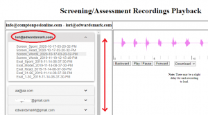 screening recordings