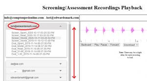 screening recordings